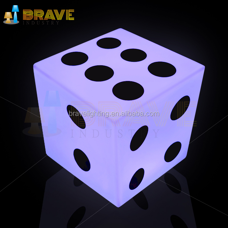 New arriving !! Bar chair Eco-friendly KTV activity LED cube lighting dice stool