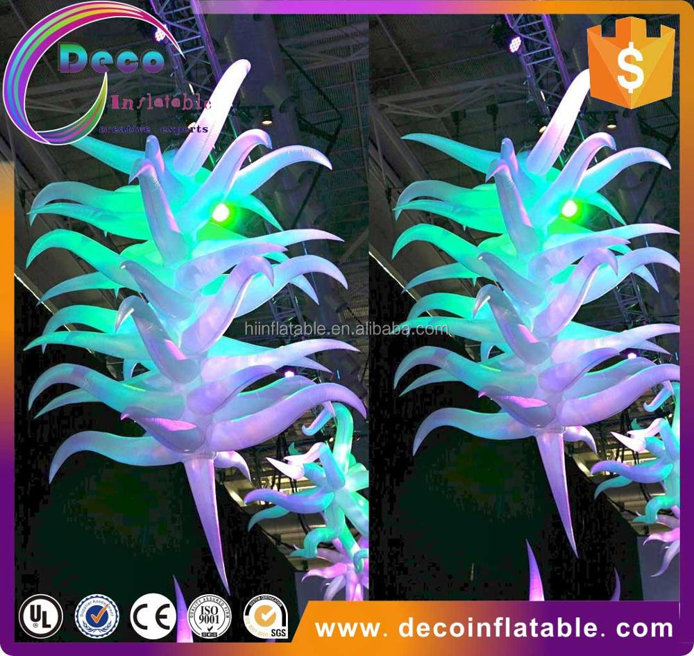 Advertising LED Star Light Inflatable Party Star Light , Event Ceiling Decoration Inflatable Star / Led Light Balloon