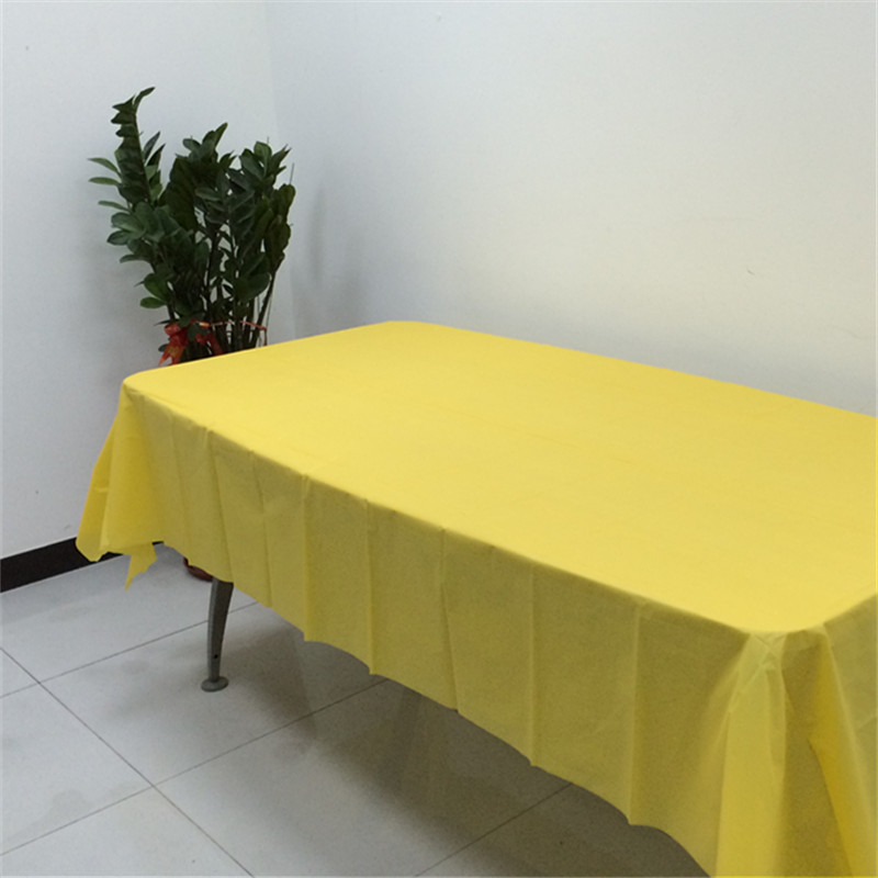 SGS peva solid color disposable table cloth/tablecloth