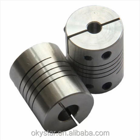 spring coupling aluminum flexible shaft coupling connecting the Z-axis motor 3d printer parts