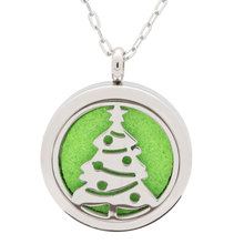 Christmas Tree Pattern Aromatherapy Necklace Pendant, Perfume Diffuser Jewellery, Essential Oil Diffuser Necklace