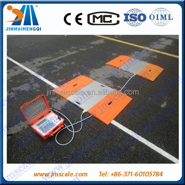 Jinmai Cheap High Quality Portable truck axle cars weighing pads scale wheel load scale