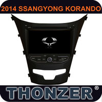 8 inch car dvd with gps for 2014 SSANGYONG KORANDO