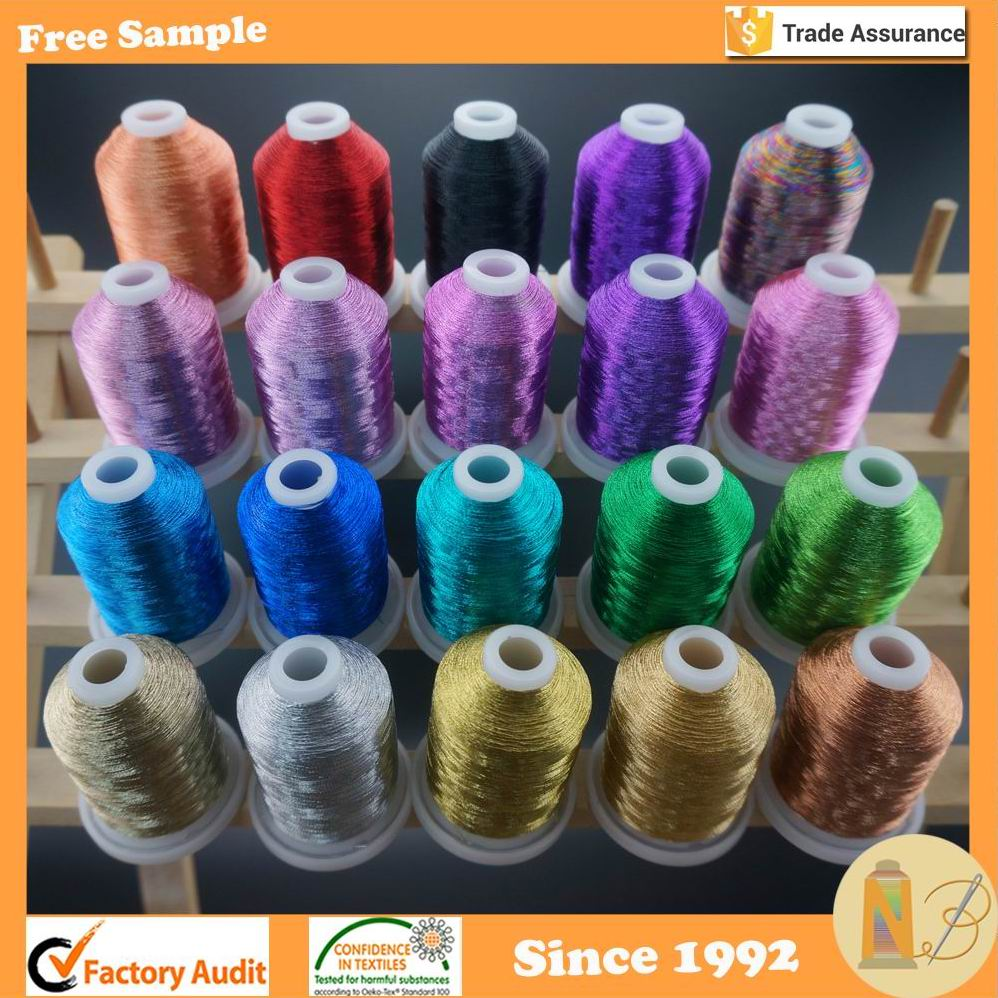 20 Spools 1000M Each Metallic Embroidery Thread