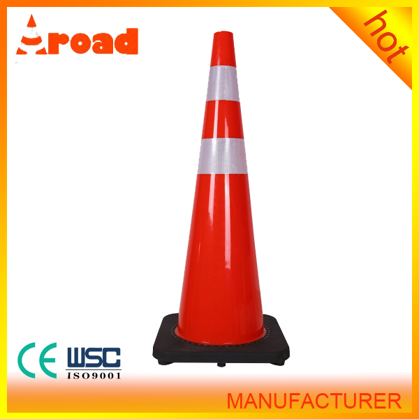 black base 100% new material 710mm pvc toy road cones