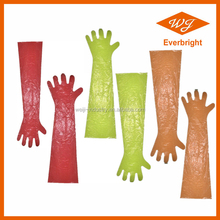 Disposable Veterinary PE Gloves for obstetrical use