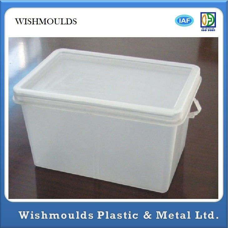 Heavy Duty 50kgs Nestable & Stackable Plastic Storage Boxes For Moving customed design injection plastic moulds
