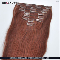 Wholesale Price Directly Factory Price Best Quality 100% Remy Human Hair clip in hair extensions for african american