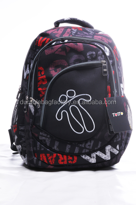 Stock 2016 New Style Fashion Polyester School Backpack mochilas