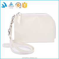 Factory custom white pu women single shoulder bag for pnone