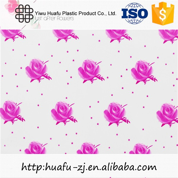 100cm big size flower print cellophane wrap for gift baskets