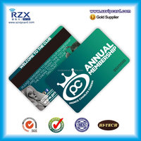 Printing credit card size plastic pvc magnetic stripe card for shops and markets
