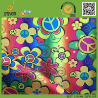 100% polyester spandex satin print lining fabric made in china