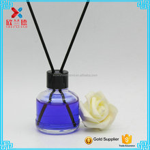 50ml decorative cosmetic round aroma reed diffuser glass bottle