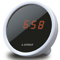 Newest and Hot selling Mirror Face Red LED Digital Alarm Clock