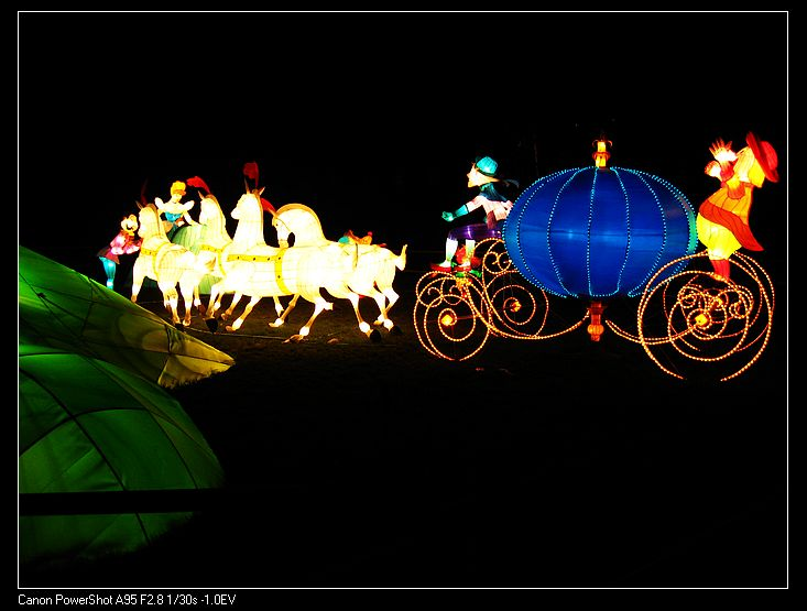 Fairy tales pumpkin carriage light Night decoration for the park