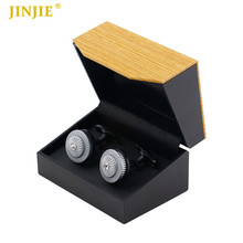 Hot Sale Gift Cuff links Box jewelry gift Box Gemelos Storage Box Cufflinks tie clip display