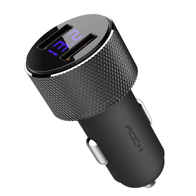 ROCHE 5 V 3.4A Double USB Chargeur De Voiture D'affichage Numérique Téléphone Chargeur De Voiture Pour Iphone Xs Xr Universel Chargeur De Voiture pour Samsung Note 9 - ANKUX Tech Co., Ltd