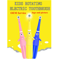 OEM new style children rotating Electric Toothbrush For Kids Battery Powered with double heads