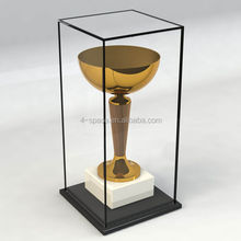 High quality customize clear acrylic trophy case plexiglass award display cabinet Handmade Acrylic Display Case