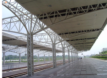 High-speed pipe truss, network frame steel structure engineering