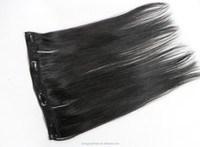 7Pcs a Pack Full Head Clip in Human Hair Extensions for Black Women