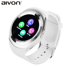Full Round Android Smart Watch Y1 Bluetooth watch for iphone 7 for Samsung Galaxy Gear