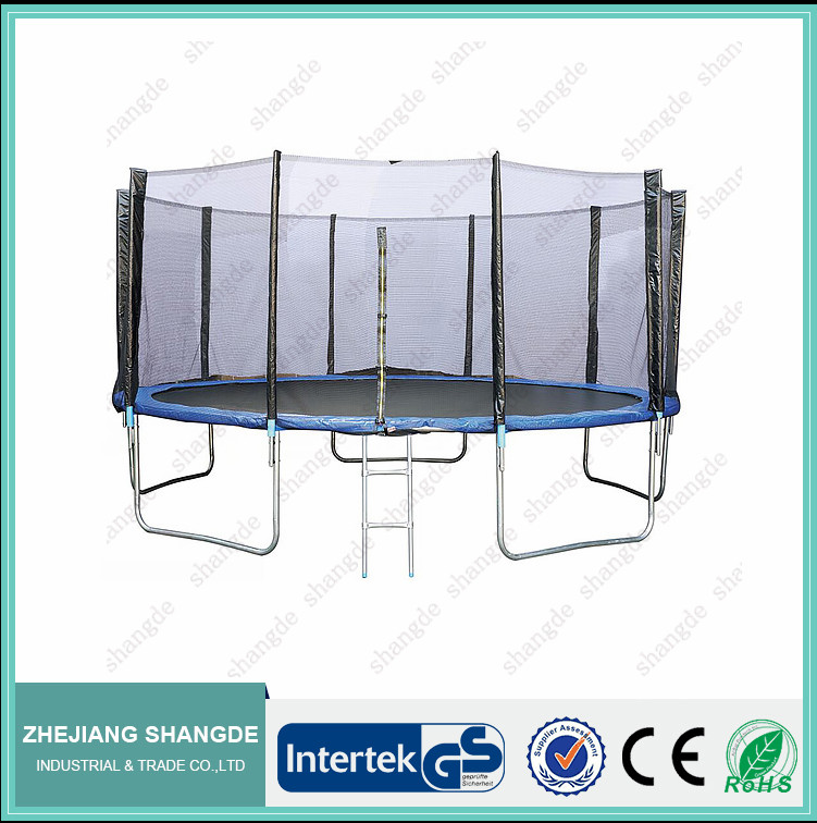 Big 6FT,8FT,10FT,12FT,13FT,14FT,15FT,16FT trampoline(rebounder) with ladder and safety enclosure