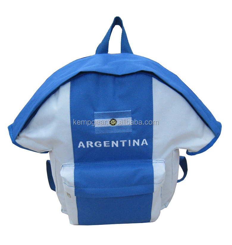 2016 Shirt pattern funny school bag for kids
