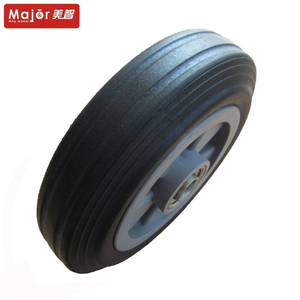 7 inch 7X1.5 180mm solid rubber spoke wheels for hand truck trolley