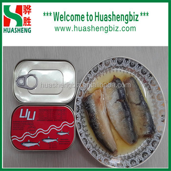 Seafood Food Of Canned Sardines In Oil