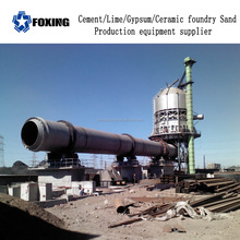Calcining rotary kiln for cement active lime and gypsum powder