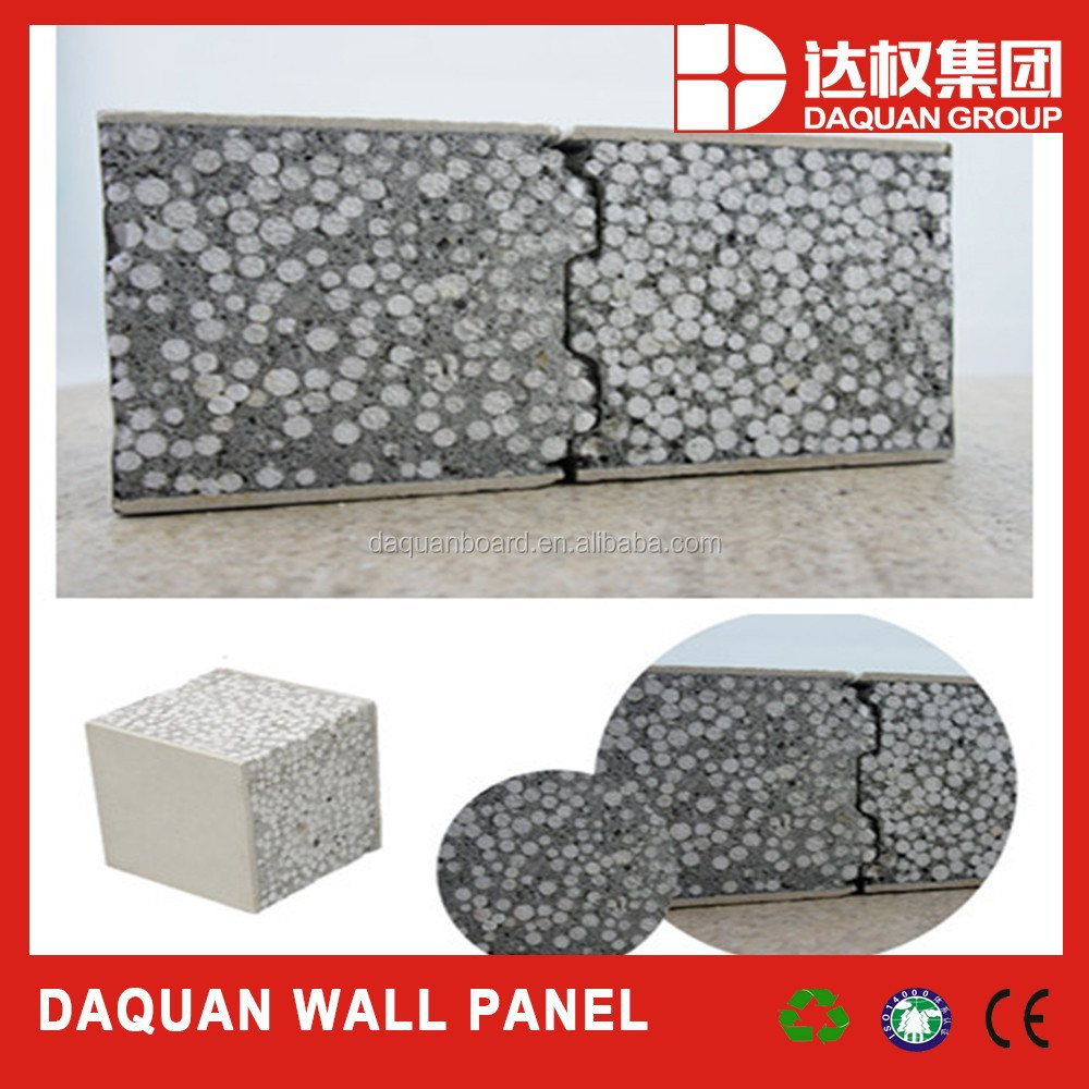 Wuhan Daquan Bahrain Factory on-site building concrete sandwich panels for prefabricated house