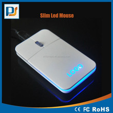 Computer Wired Optical Mouse Portable optical Slim LED mouse with customized laser led logo