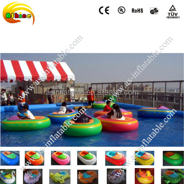 Kids electric motor boat battery inflatable bumper boat pedal boat for pool