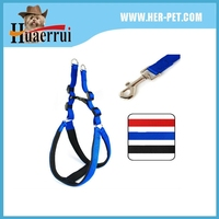 Nylon doggie puppy cat dog leash with collar set foam pet harness lead