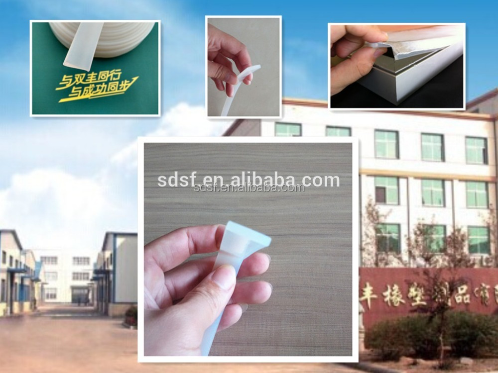 silicone edge graphics gasket profile for adevertising light board box