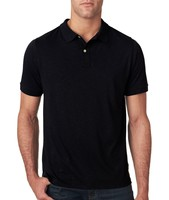 plain polo shirt for man blank black short sleeve elastic cuff