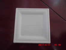 Disposable molded pulp fast food packaging plates