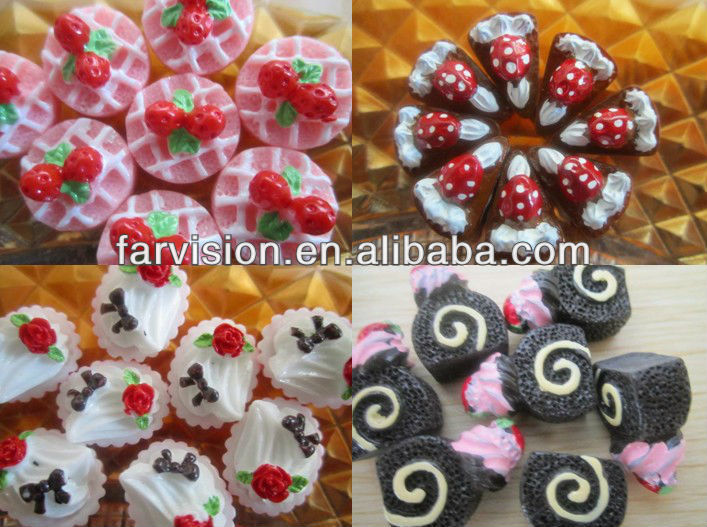high quality flatback kawaii mixed style resin food/cakes cabochons