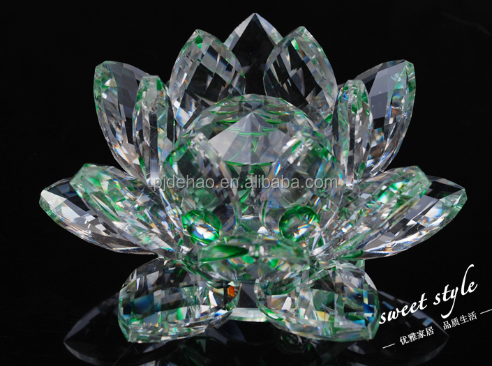 Elegant Colorful Wedding Decoration K9 Crystal Lotus