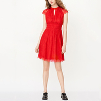 open mini sexy red women lace cocktail dress