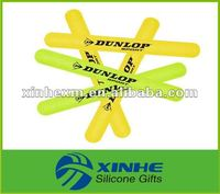 2013 Fashionable print logo silicone slap wristband