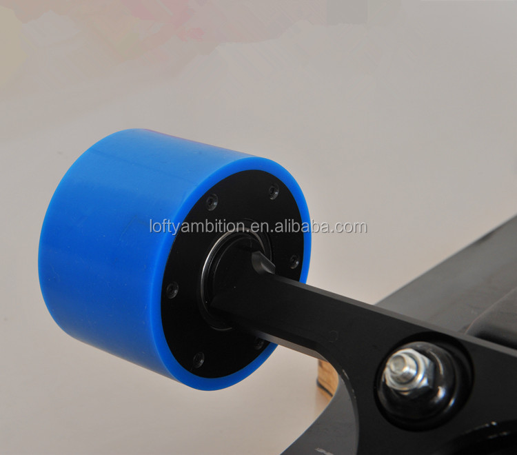 Electric skateboard motor in wheel for motorized skateboard