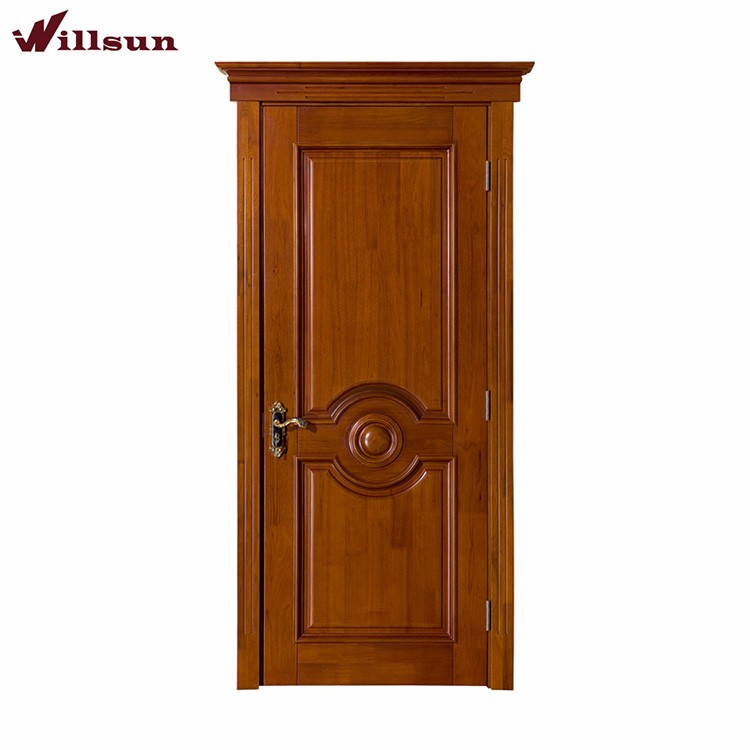 Latest design roeswood veneer plywood molded interior door design for apartment