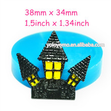 JYL173 Witch Castles Silicone Mold - Fondant Craft Polymer Clay Cabochon Nougat Cement Candles Push Mold