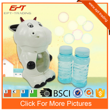 Cow design plastic bubble machine toy kids bubble gun for sale