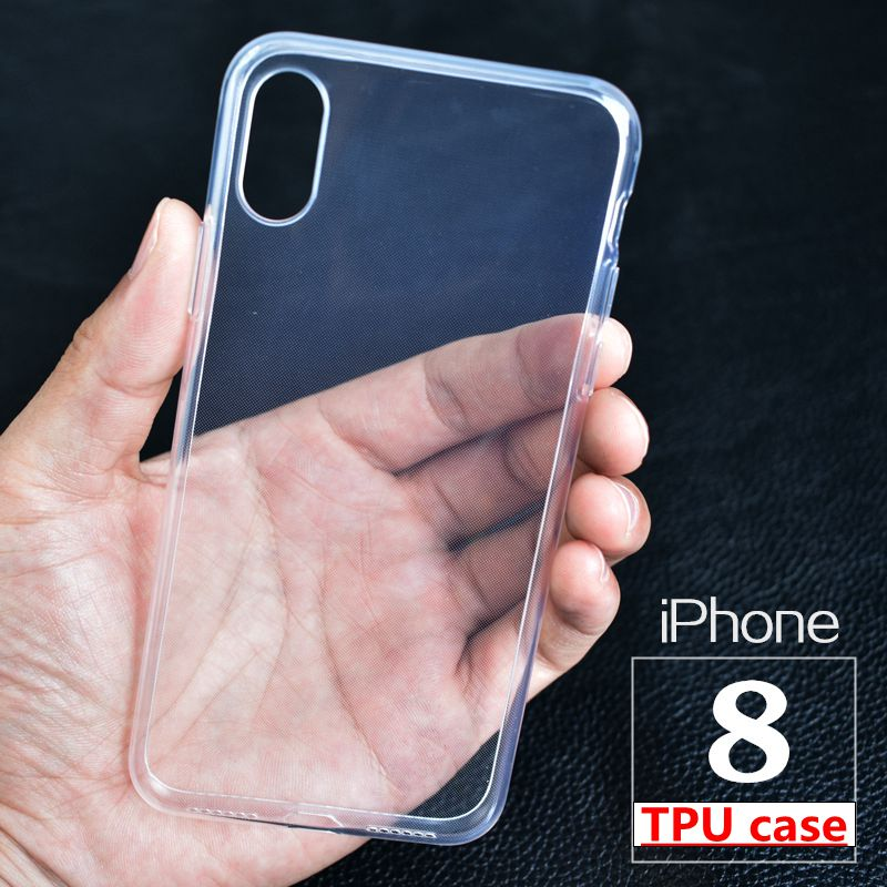 wholesale factory price case For iphone 8 8p X phone back Cover clear Silicone Soft TPU Phone cover For iphone 8 8 Plus X