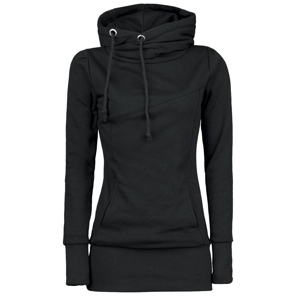 Womens Plain Black Hoodie - Hardon Clothes