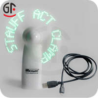 2015 Hot Sale Pre-Programmed Battery Operated Hand Held Flash Message Fan